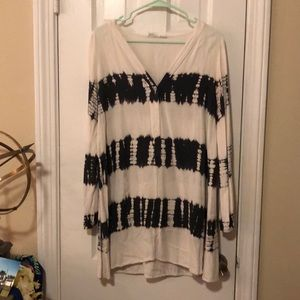 Blue and white tie die tunic/dress